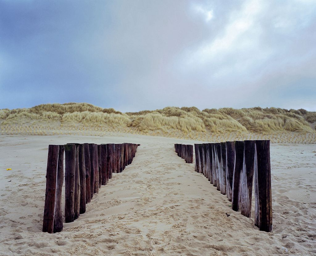 Beach: East (Coastal Drift Pylons), 2006, C-print, 43.5 x 35""