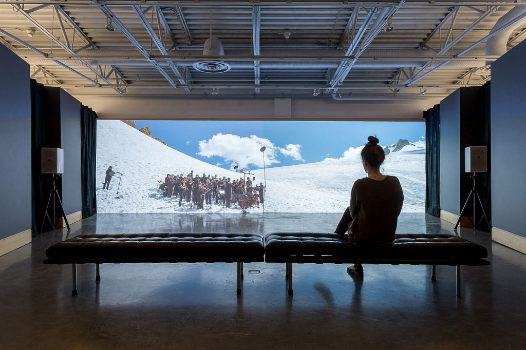 Paul Walde: Requiem for a Glacier, 2013; installed Art Gallery at Evergreen, 2014