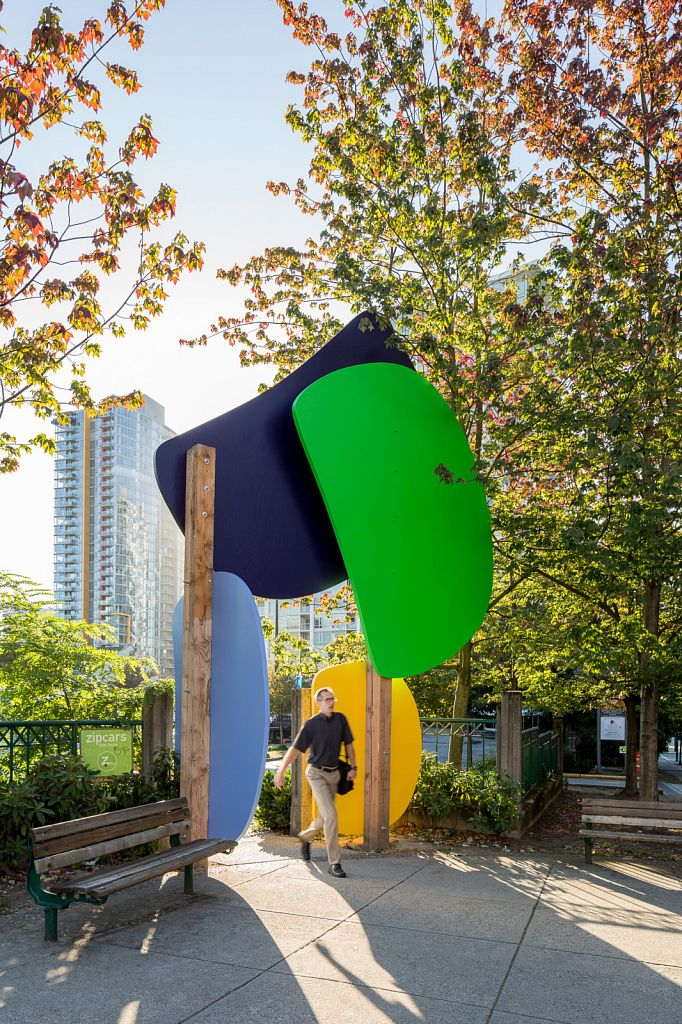 Lawrence Paul Yuxweluptun: Ovidism, 2016; Other Sights for Artists Projects - The Larwill Park Site Public Art Projects, Larwill Park, Vancouver BC